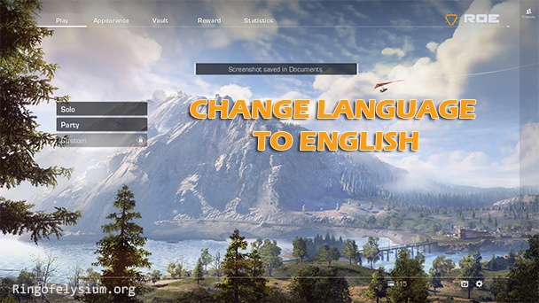 Change ROE language into English