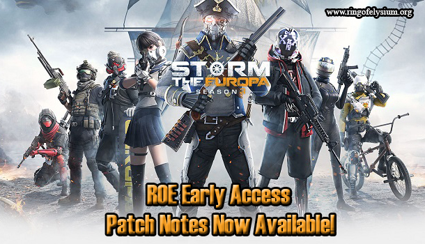 ROE Early Access Patch Notes Now Available! - Ring of Elysium Game